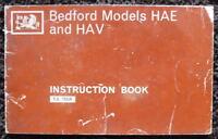 BEDFORD 1968 HAE & HAV MODELS INSTRUCTION BOOKLET #T.S. 792/4