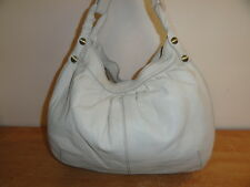 Nice Large Cream Pebbled Leather LUCKY BRAND Shoulder Satchel Hobo Handbag
