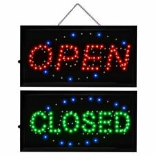 """2 in 1 Open & Closed Bright Led Motion Business Sign Display Neon Light 19""""x10"""""""