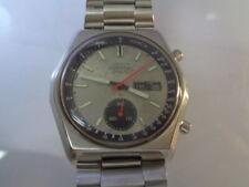 Seiko Chronograph Mens Watch 6139-7080 Day & Date Original Dial SN. 791378