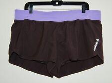 Reebok Women's Urban Plum Purple One Series Nylux Woven Lined Shorts Sz XL