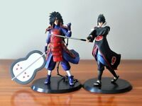 2pcs/lot 18 cm Anime Naruto Uchiha Madara Sasuke PVC Action Figure Figurine Toy