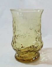 "Anchor Hocking  Rainflower Amber 4"" Juice Glass/Tumbler(s)"