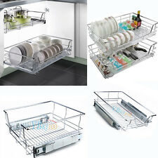 Pull Out Pantry Drawer Basket Wire Slide Roll Kitchen Storage Domestic AU POST