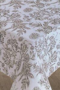 Ralph Lauren Floral Toile Tablecloth Cotton White & Black  60 x 104 Oblong