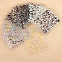 10 Sheets Nail Art Transfer Stickers 3D Design Manicure Tips Decal Decorations