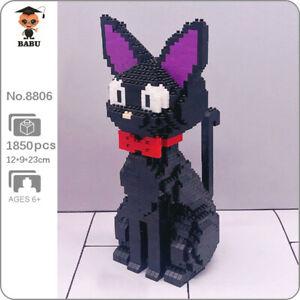 Babu 8806 Animal World JiJi Black Cat Pet Bow Mini Diamond Blocks Building Toy