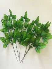 Pack of 6 Artificial  Rose Leaf Sprays 45 cm Tall -  Light Green Leaves