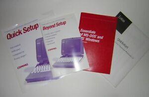 Compaq Contura Aero 4/25 4/33c Set of Original Manuals and Guides Beyond Quick