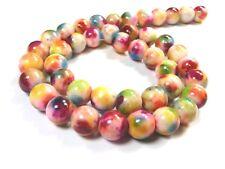 15 Glasperlen weiß matt 10mm Kugeln rund Schmuckkugeln Perlen zum Basteln 824