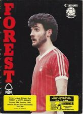 Nottingham Forest v Notts County Div One 1983 /84 - October 16th