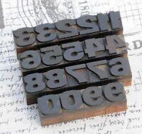 0-9 Holzzahlen 18 mm Ziffern Plakatlettern Holzlettern Zahlen letterpress Ziffer