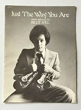 Billy Joel Just The Way You Are Vintage Sheet Music 1978 Impulsive & April Music