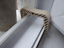 2 Fensterklammer klein, beige Türstopper Fensterstopper  Türkeil Türfeststeller
