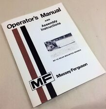 MASSEY FERGUSON MF 42 REAR-MOUNTED MOWER OPERATORS OWNERS ASSEMBLY MANUAL