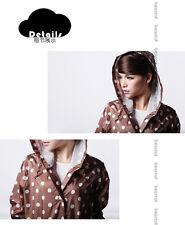 Japanese New Fashion girls/ lady's Raincoat with the  Dot Pockets Knee Length