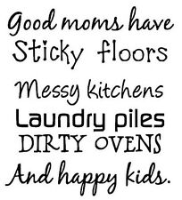 GOOD MOMS  Vinyl Decal Home Art Decor Quote Lettering Words