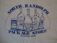 Vintage North Randolph MA Package Store Liquor Beer Punk Rock T Shirt L