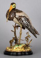 PORCELAIN BRASS BIRD FIGURINE FIGURE REPRODUCTION