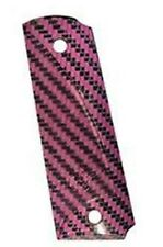 Kimber Carbon Fiber grips, Full-length, Pink/Gray No. 4000925A