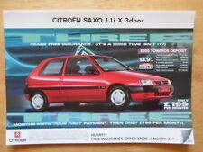 CITROEN Saxo 1.1i X & Spree 1998 UK Market sales brochure