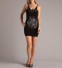 Ed Hardy Ladies Attractive Rhinestone and Chain Dress Size L