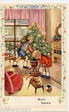 Bambini Albero Giocattoli Orsacchiotto Natale PC Circa 1940 ITALY Xmas Childrens