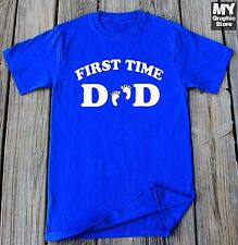 First Time Dad T-Shirt Father's Day shirt Gift For New Daddy Baby Foot Print Tee
