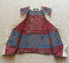 ORVIS Women's Native American Southwest Tribal Print Vest Jacket Size M
