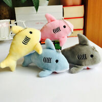 KM_ KQ_ 12cm Cute Shark Plush Stuffed Hanging Doll Key Chain Pendant Bag Decor G