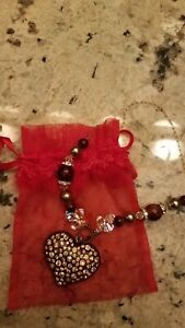 Beautiful Ladies  Heart Necklace! Custom Made, One Of A Kind! Blingy~