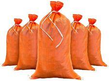 Sandbag- 100 Orange Empty Sand Bags- Flooding Hold Traffic Signs Military Grade
