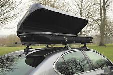 Heavy Duty Gloss Grey 420L 50kg Travel Storage Luggage Locking Car Roof Bar Box