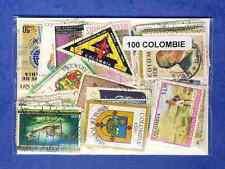Colombie - Colombia 100 timbres différents oblitérés