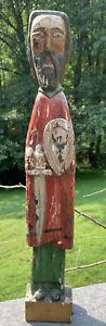 """vintage Antique Carved Santos 21"""""""