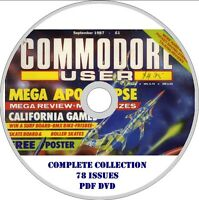 COMMODORE USER CU magazine COMPLETE COLLECTION on DVD ALL 78 issues! games 80s