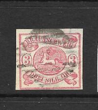 BRUNSWICK  1861-64  3sgr  DEEP ROSE  FU  SG 19