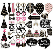 41PCS Party Photo Props - Birthday Wedding Decoration Picture Booth Selfie Set