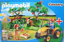 Playmobil 6870 Starter Set Obsternte Traktor Äpfel Melonen Bäume Kisten Nest NEU