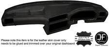 BLACK LEATHER DASHBOARD LEATHER SKIN COVER FOR BMW 3 SERIES E30 1981-92 STYLE 2