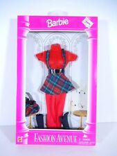 NEW BARBIE DOLL FASHIONS 1999 FASHION AVENUE BOUTIQUE RED PLAID JUMPER 14980