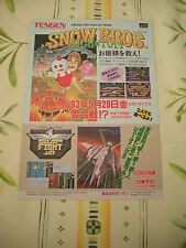 >> SNOW BROS SLAP FIGHT 007 MEGADRIVE ORIGINAL JAPAN HANDBILL FLYER CHIRASHI! <<