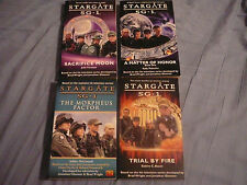 LOT OF 4 STARGATE SG-1 SG1 PAPERBACK BOOKS LIVRES SOUPLES RICHARD DEAN ANDERSON
