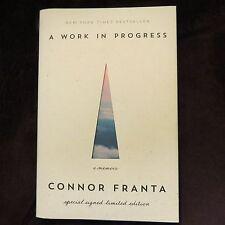 CONNOR FRANTA SIGNED!!!  A Work in Progress  2015, 1st /1st HC YOUTUBE SENSATION