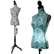 Female Mannequin Torso Dress Form Display W/Black Tripod Stand Home Decor