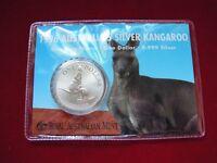 AUSTRALIA   1996  $1 Kangaroo -  1oz  Silver Coin....UNC  in card
