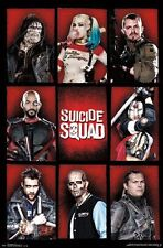 SUICIDE SQUAD - CHARACTERS POSTER - 22x34 - DC COMICS MOVIE 14082
