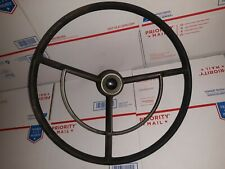 1960's Ford Truck F100 F250 Steering Wheel With Horn Trim Ring, button