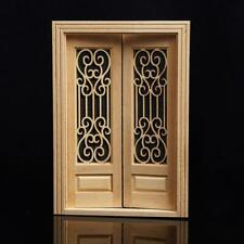 1:12 Dollhouse Miniature Wood Double Door Can Be Painted ss.US E7E6