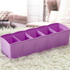 Drawer Organizer Storage Divider Box Case Tie Bra Socks Cosmetic Medicine 5HUK
